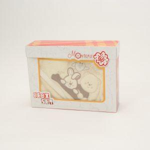 Baby ručnik s kapuljačom – krem 12018