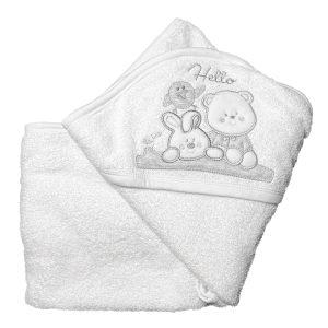 Baby ručnik s kapuljačom – bijeli 12018