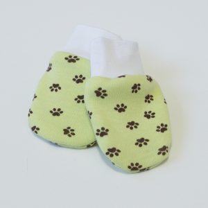 Baby rukavice zelene sa šapicama
