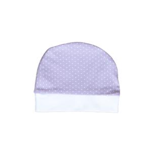 Baby kapa lila s točkicama