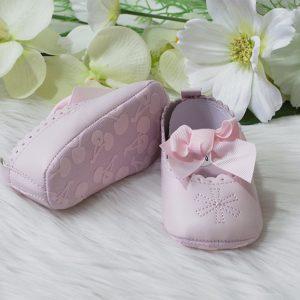Baby cipelice nehodajuće, roze mašna