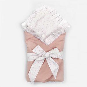 """Jastuk za bebe """"Tri prijatelja u Parizu"""", rozi"""