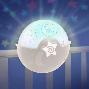 Noćna lampa i projektor za krevetić – bež 13819