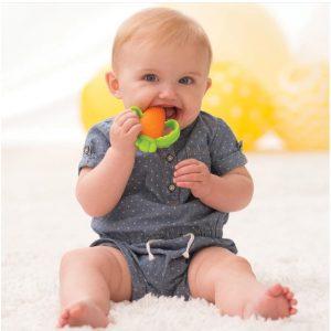 Silikonska grickalica za bebe – mrkva 13829