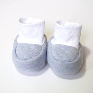 Baby papučice svijetlo plave – uzorak