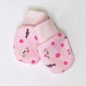 Baby rukavice – kravice, roza