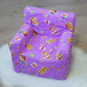"""Dječja fotelja """"Dora"""" – ljubičasta, medo"""