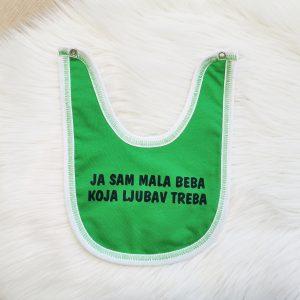Podbradak zeleni – ja sam mala beba