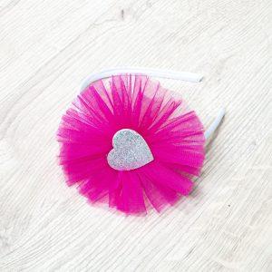 Rajf pink, srebrno srce