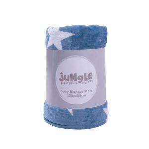 Jungle dekica Zvjezdica , 100x 130cm plava