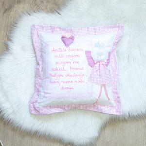 Jastuk ANĐEO – svijetlo rozi