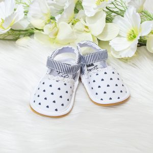 Baby sandale srca – bijele