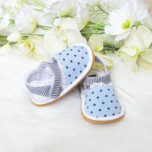 Baby sandale srca – plave