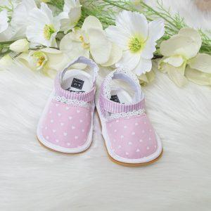 Baby sandale srca – roze