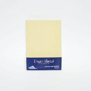 Plahta s gumom,140x70cm, žuta