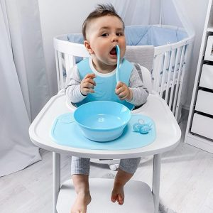 Twistshake podloga + tanjur 430ml – Pastel Blue