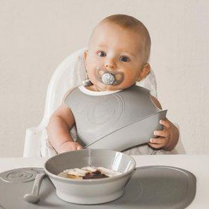 Twistshake podloga + tanjur 430ml – Pastel Grey
