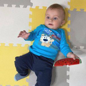 Kretex baby majica Baby tiger – plava