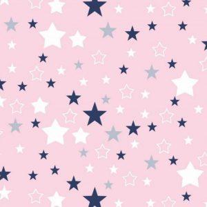 Tetra pelena 1kom – zvjezdice na rozom