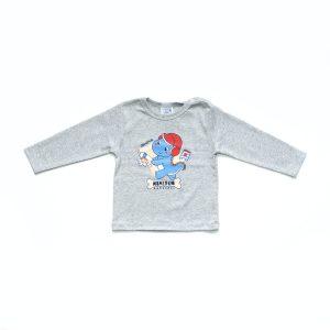 Kretex baby majica Dino – siva