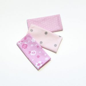 Krpice za brisanje 3/1 – točkice rozo