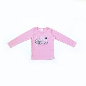 Kretex kids majica Hello – svijetlo roza K10311