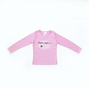 Kretex kids majica You`re such a tease – svijetlo roza K10311