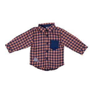 Just kiddin` košulja karirana – narančasta 14536