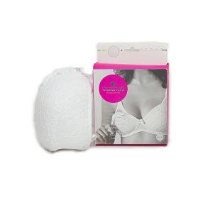 Caramell grudnjak za dojilje bijeli čipkasti 14360
