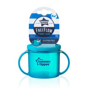 "Tommee Tippee® ""Free Flow PRVA ŠALICA"" s preklopnim usnikom i poklopcem (190ml) plava 14432"