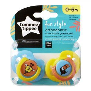 "TOMMEE TIPPEE CTN ""FUN STYLE"" DUDE VARALICE 0 – 6 mj. – plava i žuta; žirafa i ptica – 14427"