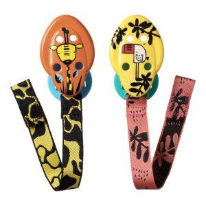TOMMEE TIPPEE CTN DRŽAČ ZA DUDE VARALICE – žirafa i flamingo; narančasta i žuta – 14430