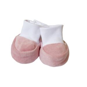 Baby papučice pliš – prljavo roze