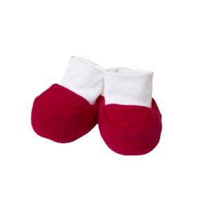 Baby papučice – crvene tople