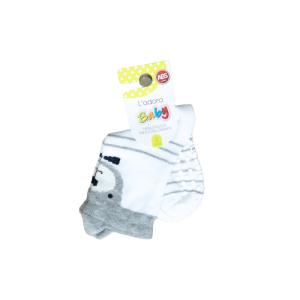 L`adoro pamučne neklizajuće čarape – sivi medo s ušima 11599