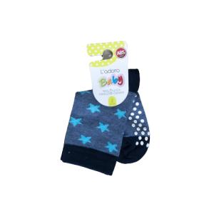 L`adoro pamučne neklizajuće čarape – tamno plave sa zvjezdicama 11599
