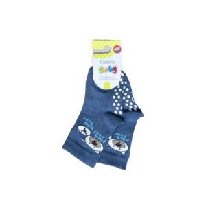 L`adoro pamučne neklizajuće čarape – medvjedići, plave 11599