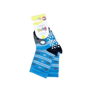 L`adoro pamučne neklizajuće čarape – plave, medo i zvjezdice 11599