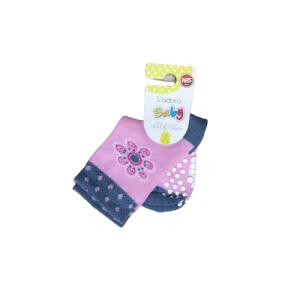 L`adoro pamučne neklizajuće čarape – svijetlo roze 11599