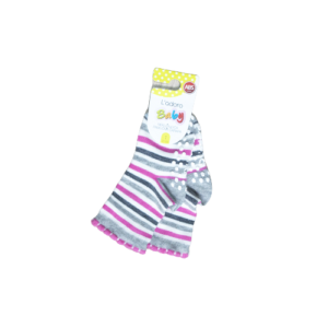 L`adoro pamučne neklizajuće čarape – roze pruge 11599