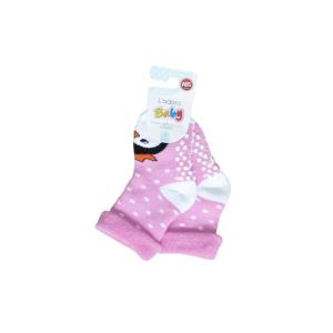 L`adoro termo neklizajuće čarape – pingvin, svijetlo roze 11637