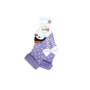 L`adoro termo neklizajuće čarape – pingvin, ljubičaste 11637