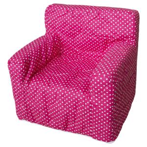 """Dječja fotelja """"Dora"""" – pink, bijele točkice 4096"""