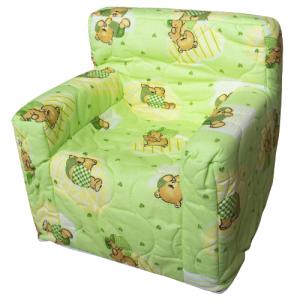 """Dječja fotelja """"Dora"""" – zelena, medo 4096"""