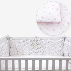 Ogradica za krevetić – Zvjezdice roze 14698