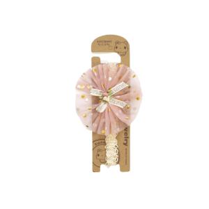 Traka za kosu – roza, zlatne točke 14680