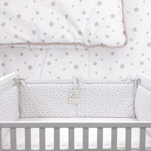 Ogradica za krevetić – Zvjezdice bež 14698