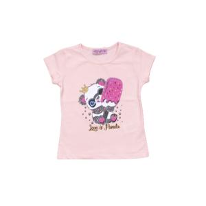 """Miss Zelish majica """"Panda"""" k.r. – breskva, 14963"""
