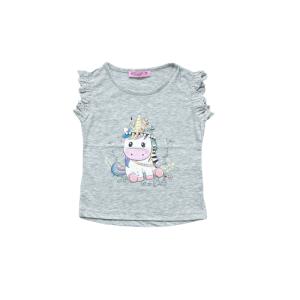 "Miss Zelish majica ""Cute"" k.r. – siva, 14964"