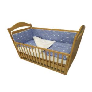"""Montex posteljina """"Zvijezda"""" 2 elementa – plava, bijele zvjezdice F16277"""